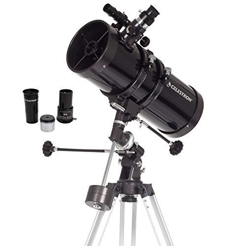 Celestron - Telescópio PowerSeeker 127EQ - Telescópio Equatorial Alemão Manual para Iniciantes - Compacto e Portátil - Pacote de Software de astronomia Bônus - Abertura de 127 mm