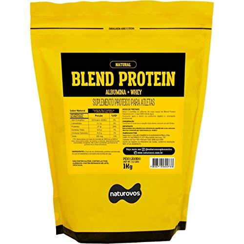 Blend Protein Albumina e Whey - 1000G Natural - Naturovos, Naturovos