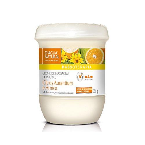 Creme de Massagem Citrus Aurantium e Arnica, D'agua Natural, 650 g