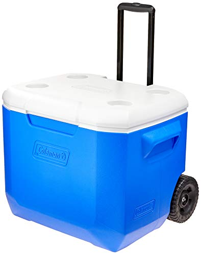 Caixa Térmica com rodas 60QT (57 L), 94 Latas, Coleman, Azul