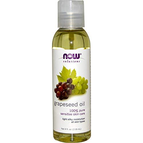 NOW Solutions, óleo de semente de uva, cuidados com a pele sensível, hidratante leve e sedoso para todos os tipos de pele, 120 ml
