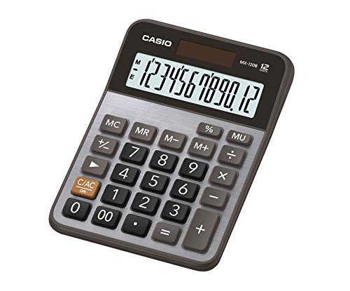 Calculadora de Mesa 12 Dígitos, Casio, 60338, Cinza