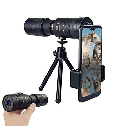Telescópio Monocular para Smartphone, 4K 10-300x40 mm com Lente BAK4 Prisma para Praia