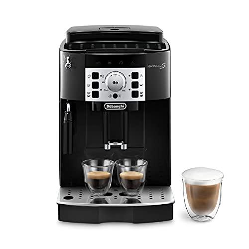 Maquina de café expresso super-automática Delonghi com um moedor ajustável, maquina de cappuccino manual, para preparar café expresso, cappuccino, latte. ECAM22110B MagnificaS