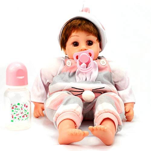 Boneca Bebê Reborn Baby Menina Mamadeira Chupeta Imã 303BNM