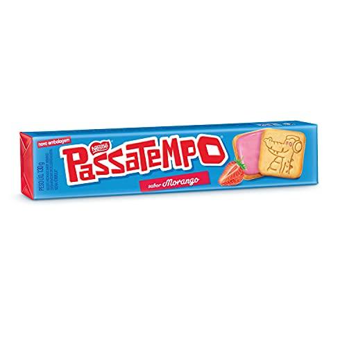 Biscoito Recheado, Morango, Passatempo, 130g