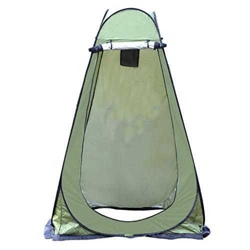 yotijar Barraca de chuveiro portátil instantânea para uso ao ar livre, vaso sanitário, vestiário, abrigo de chuva - verde militar