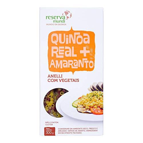 Macarrão Quinoa Real Amaranto Anelli Mundo Da Quinoa 300g