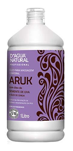 Óleo de Massagem Aruk Semente de Uva e Cereja, D'agua Natural, 1 litro