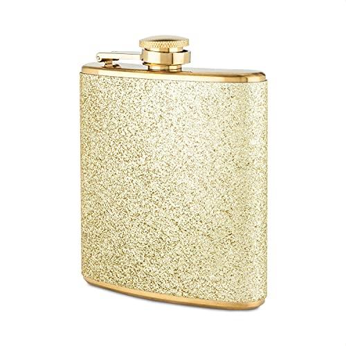 Blush Sparkletini Cantil de metal dourado de aço inoxidável, 170 g