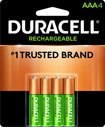 Pilha Recarregável AAA Palito DURACELL com 4 unidades, Duracell, pacote de 4