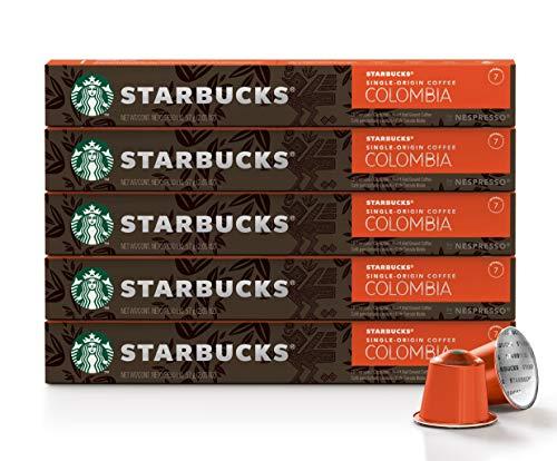 Café Starbucks em Cápsulas Nespresso, Single-Origin Colombia - 50 cápsulas