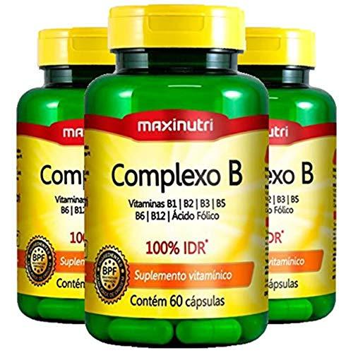 Complexo B - 3 unidades de 60 cápsulas - Maxinutri