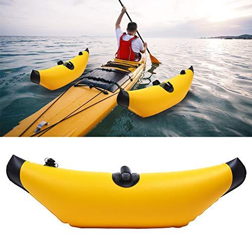 Taidda- Aparador de caiaque inflável leve e durável de 91 x 30 cm, equipamento de caiaque, boia de canoa, boia de canoa, barco de remo para canoagem de caiaque azul