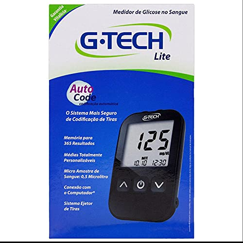 Medidor de Glicose G-Tech Lite, G-Tech