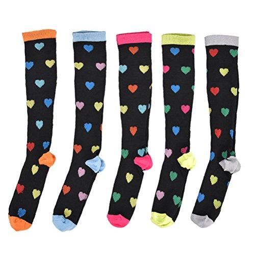 3 pares de meias de compressão masculinas e femininas da Lioobo, para viagens de voo, enfermeiros, maternidade, recuperação de circulação de vigor – Tamanho GG (cor aleatória)
