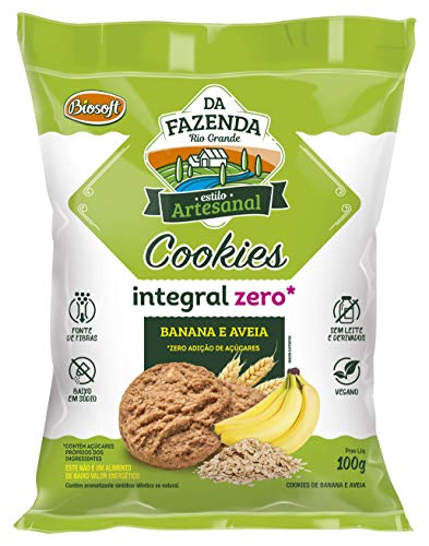 Cookies Banana E Aveia Zero, BIOSOFT, 100g