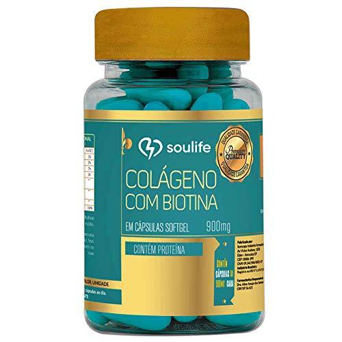 Colágeno com Biotina 900mg - 60 Cáps - Soulife, Soulife
