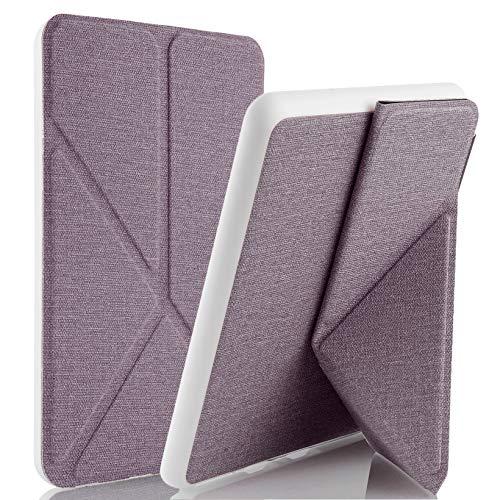 Capa Novo Kindle 10ª Geração WB® - Origami Silicone Flexível Sensor Magnético Tecido Lilás