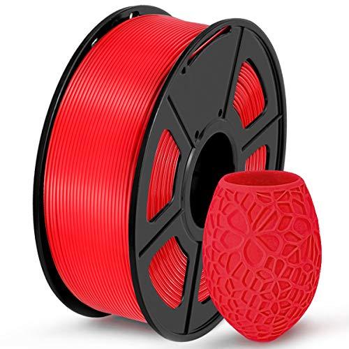 Filamento de impressora 3D SUNLU PLA, filamento PLA de 1,75 mm de precisão dimensional +/- 0,02 mm, carretel de 1 kg, vermelho PLA