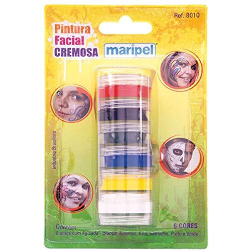 Pintura Facial Cremosa, Maripel 8010, Multicor