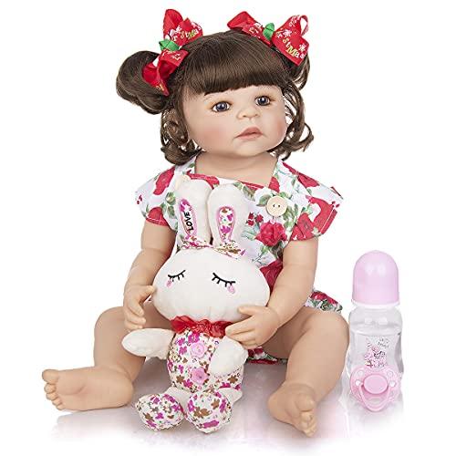 Boneca Bebe Reborn Anna Corpo Todo de Silicone Menina