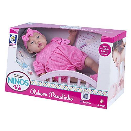Ninos Reborn Pesadinho Cotiplás Boneca Rosa