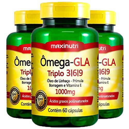 Ômega GLA 3-6-9-3 unidades de 60 cápsulas - Maxinutri