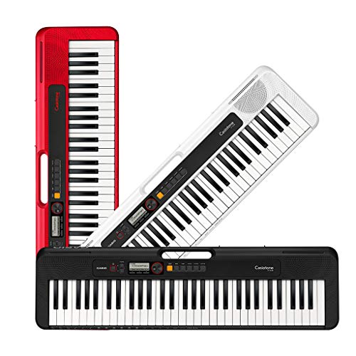 Casio Casiotone, teclado portátil de 61 teclas com USB, vermelho (CT-S200RD)