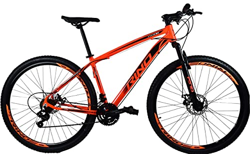 Bicicleta Aro 29 Rino Everest Freio Disco 24v Câmbios Shimano (Laranja, 19)