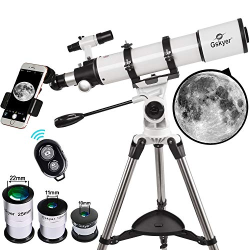 Gskyer Telescópio para adultos, Telescópio Refrator AZ 600 x 90 mm, Telescópio para Crianças, Telescópios para Astronomia Adulta, Mira de Tecnologia Alemã